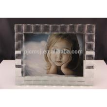 Ornamento cristalino material reciclado respetuoso del medio ambiente del marco de la foto de la decoración