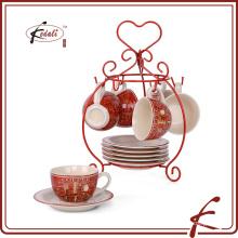 4 OZ novo design de café de cerâmica stand copo