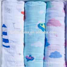 "100% Organic Cotton Muslin Wrap Blanket 47x47"" baby swaddle blanket"