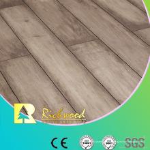 Plancher stratifié imperméable de chêne de texture de woodgrain de ménage12.3mm E0 AC4