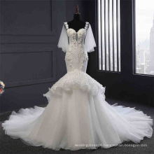 High Quality Beading Mermaid Wedding Gown