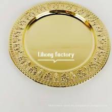 La boda recubierta de oro de acero inoxidable de estilo lujoso usaba placas de cargador