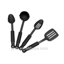 All Black 4pcs Nice Nylon Utensils Dinnerware Set