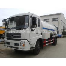 Dongfeng tianjin 4x2 camion pompe à eaux usées avec réservoir de nettoyage