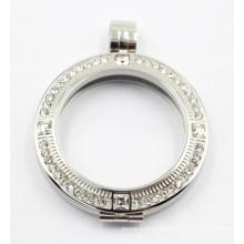 Выгравированная серебряная плавающая ожерелька для ожерелья