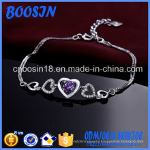 Custom Exquisite 925 Sterling Silver Chain Bracelet