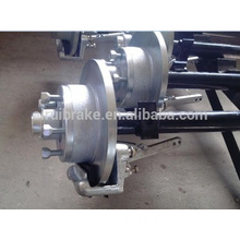 Hot Dip Galvanizing Disc brake axle for marine yacht trailer