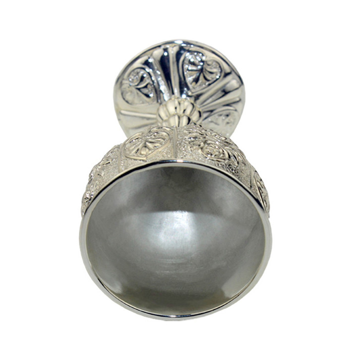 High quality zinc alloy silver kiddush cup