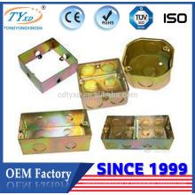 ip65 caixa de canalização elétrica de metal quadrado personalizado