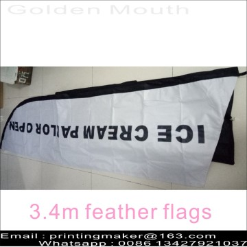 Promotion Feather Flags anpassade med kit