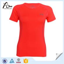 Camiseta de las mujeres del ODM Ropa deportiva de encargo del equipo de deportes