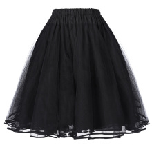 Belle Poque Women's Luxury Retro Dress Vintage Dress 3 Layers Tulle Netting Crinoline Petticoat Underskirt BP000229-1