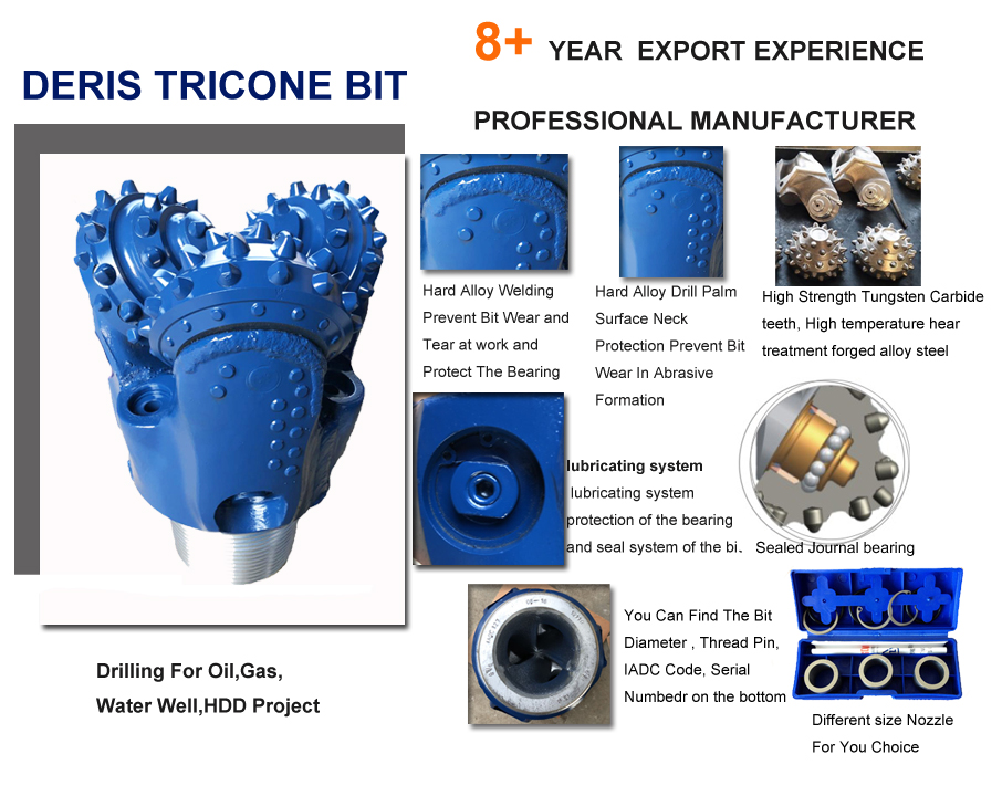 high rotary speed tricone drill bit