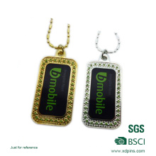 Customized Imitation Diamond Accessory Sticker Dog Tag