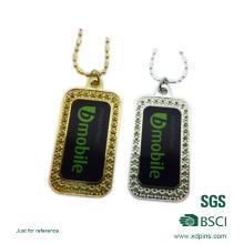 Tag de cão acessório de imitação personalizado do diamante da etiqueta
