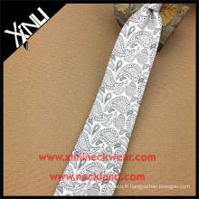 Cravates en soie vierges blanches parfaites de noeud de cou de sublimation de blanc chinois