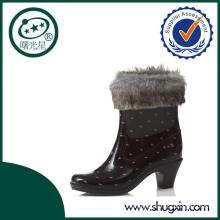 pink dot rain boots high heel boots