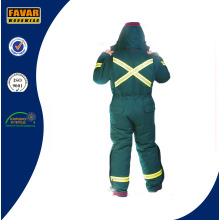 Russia Cold Weather Green Durable Winter Coverall High Visibility Winter Padded Coveralls