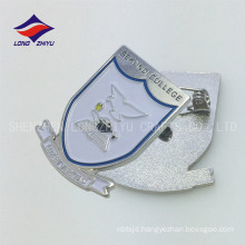 Customized metal silver souvenir soft enamel students pin
