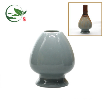 Japanese Colorful Ceramic Matcha Whisk Chasen Set , Bamboo Whisk Holder