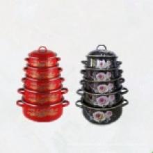 Emaille Casserole Set / Geschirr Großhandel Kochgeschirr Set