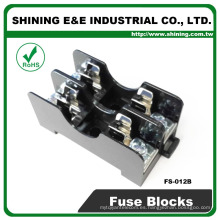 FS-012B 35mm Din Rail montado 600V 10A 2 Pole Midget Fuse Base