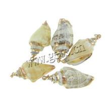 Gets.com trompete shell moldavite pendant facetado