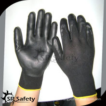 SRSAFETY 13gauge knitted polyester liner coated nitrile on palm gloves, soft style