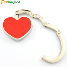 China Gold Supplier for Rhinestone Heart Bag Hanger Heart Bag Hanger With Nickel Plating export to South Korea Factories