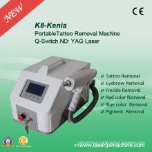 Q Switch ND YAG equipamento de remoção de tatuagem Laser