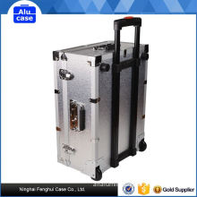 Fine appearance factory directly aluminium storage with 2 zippers