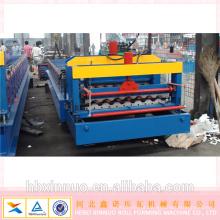 900/950 folhas de telhado de aço cor aluzinc rolo dá forma à máquina hebei xinnuo maquinaria do material de construção