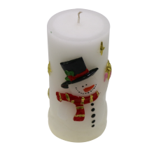 Kundenspezifische Pillar Scented Dry Flower Candle