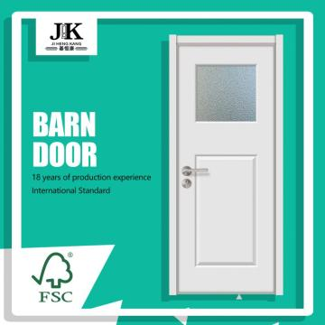 JHK-G15 Chinese Beautiful Design House White Wood Glass Door