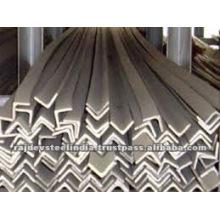 Tamaños de hierro angular de acero inoxidable