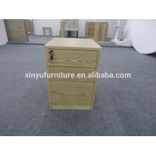 Duradero mesa de noche de madera barata XYN1217