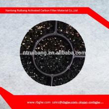Полиуретановая пена покрыта гранулированным активированным углем/активированный уголь PU пены Тюфяка губки фильтра