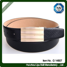 Custom Brushed Matt Cow Leather Belt for Men