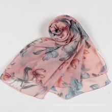 Frauen Schmetterling Print weichen langen Hals Wrap Schal Stola Frühling Herbst Schal (SW105)