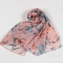 Women Butterfly Print Soft Long Neck Wrap Shawl Stole Spring Autumn Scarf (SW105)