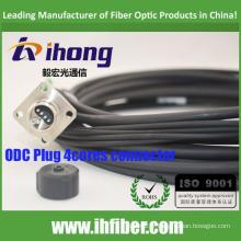 Étanche à la fibre optique ODC 4core mâle / connecteur