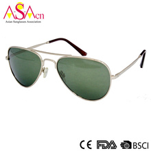 Fashion Silver Metal Unisex Sunglasses for Men and Women (16102)