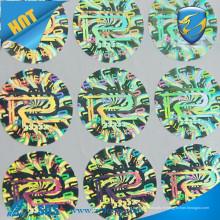 Autocollant personnalisé d'hologramme 3d / Securiy Sticker Hologramme / faire des autocollants d'hologramme en feuille