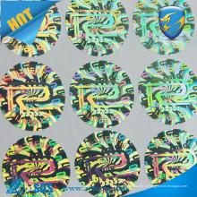 Etiqueta de holograma personalizada adesivo 3d / Securiy Holograma / fazer adesivos de holograma na folha