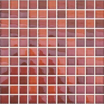 300 * 300 * 4 mm Mixcolor Glass Mosaic Tile