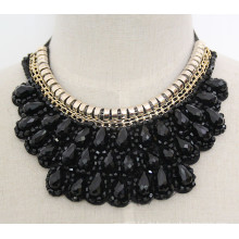Handgemachte Perlen Kristall Mode Kostüm Legierung Anhänger Halskette Schmuck (JE0001)