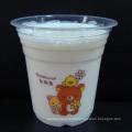 Taças pequenas, médias e grandes de milk-shake