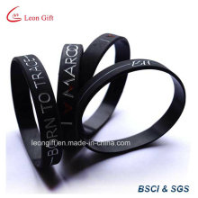 Custom Debossed Pain Color Logo Silicone Silicone Wristband