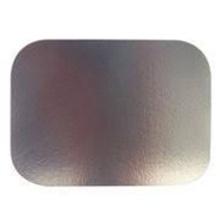 A tampa do papel do recipiente da folha de alumínio leva embora a placa