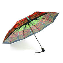 Butterfly Print 3 Fold Open & Close Umbrellas (YS-3FD22083563R)
